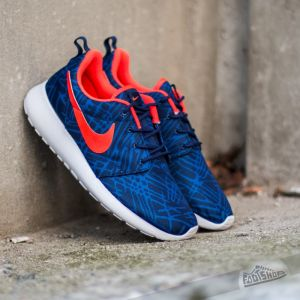 Nike Wmns Roshe One Print Loyal Blue/Bright Crimson-Gm Royal-White