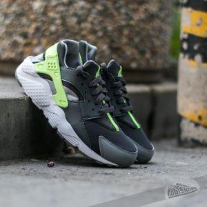 Nike Huarache Run (GS) Anthracite/ Ghost Green-Clear Grey-White