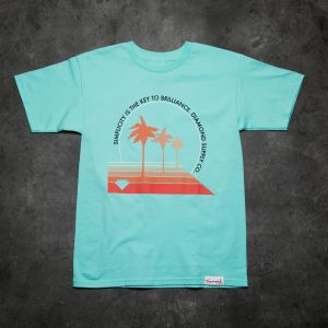 Diamond Supply Co. Palm Vibes Tee Blue