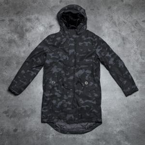 Cheap Monday Cage Camo Parka Dark Grey