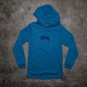 Stüssy Marker Stock Long Sleeve Hood Tee Steel