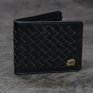 Icon Brand Black Cross Hatch Wallet